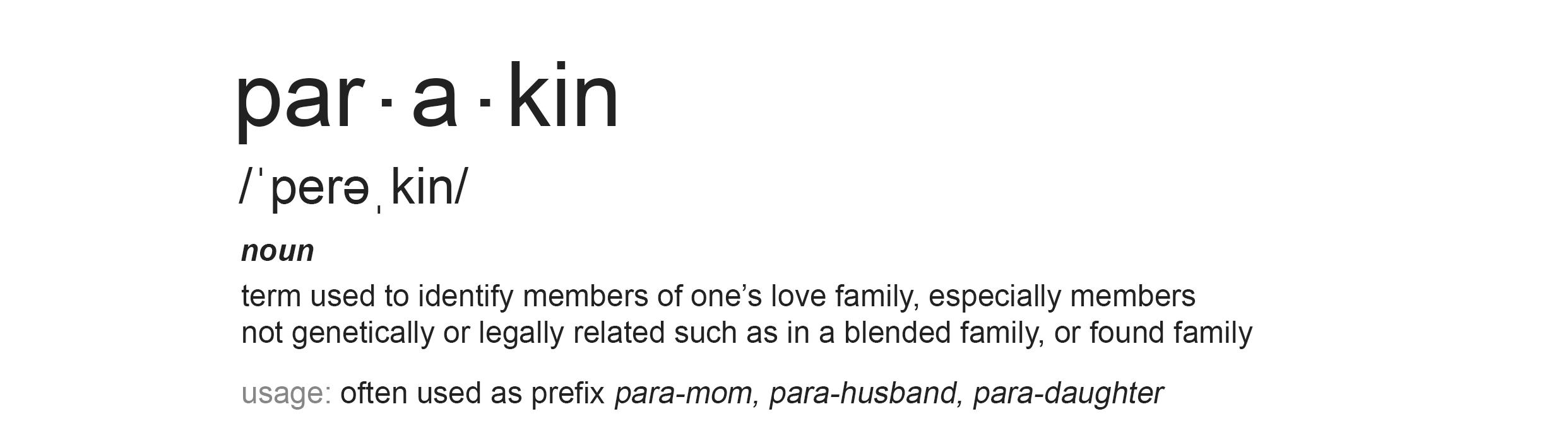 para kin definition